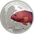 Палау 1 доллар 2016.Рыба Красный коралловый групер (Cephalopholis miniata) – Защита морской жизни.Арт.60